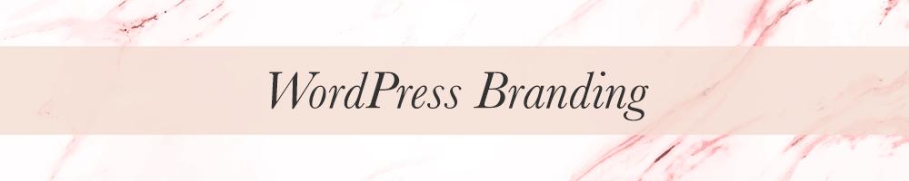 Feminine WordPress design and branding