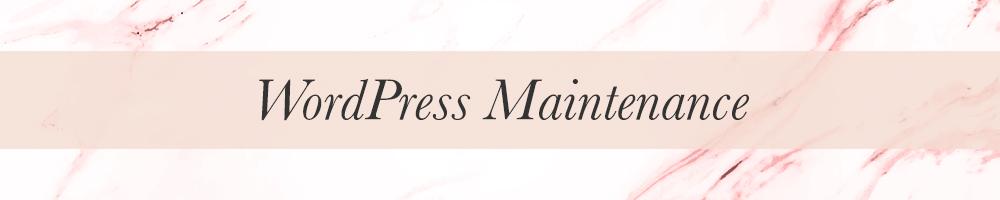 Feminine WordPress Branding and maintenance