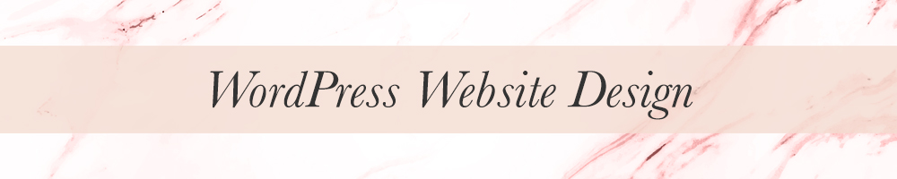 Feminine WordPress Branding and web design